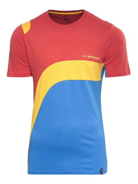 La Sportiva M's Swing T-shirt Red/Blue